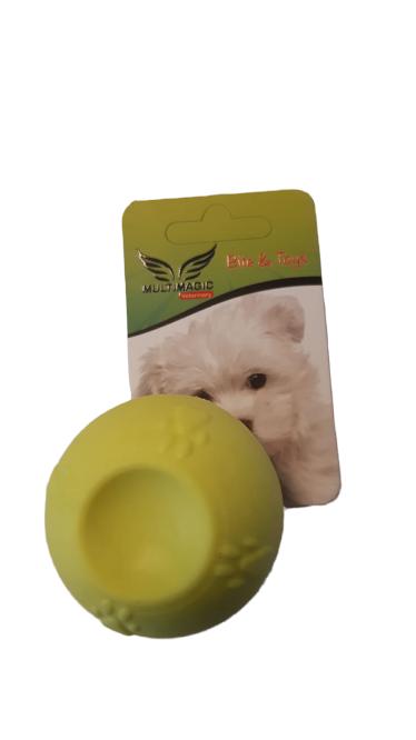Multimagic Köpek Diş Kaşıma Oyuncağı Sert Top Sarı 5 cm