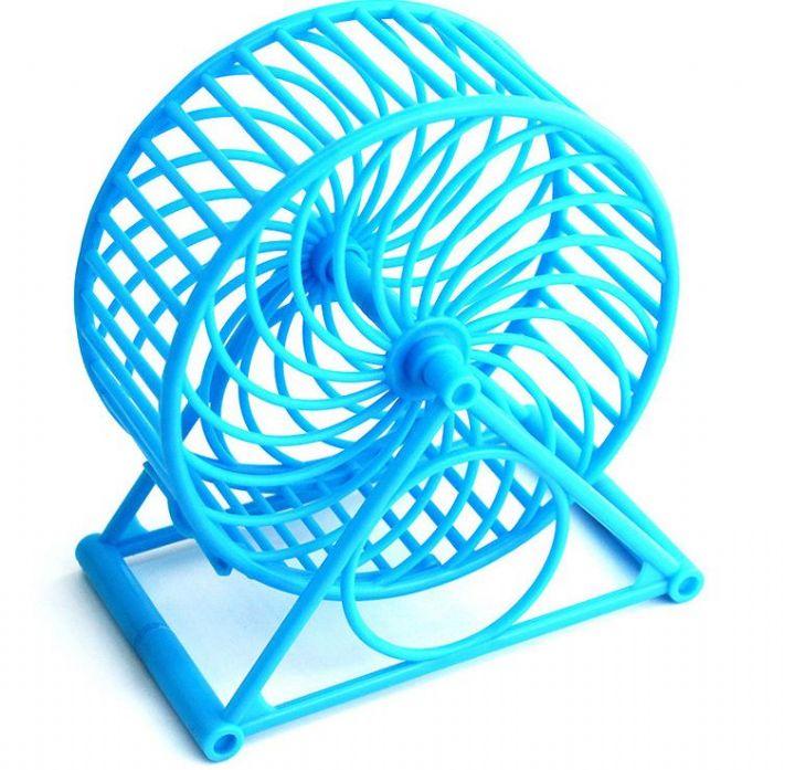 Pratik Hamster Çarkı Plastik Mavi 11 cm