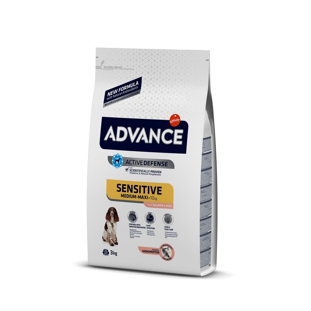 Advance Med. Maxi Sensitive Somonlu Yetişkin Köpek Maması 3 Kg
