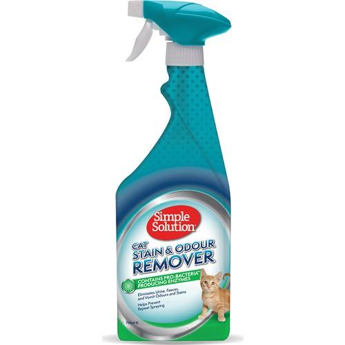 Simple Solution Kediler için Leke ve Koku Giderici Spray 750 ml