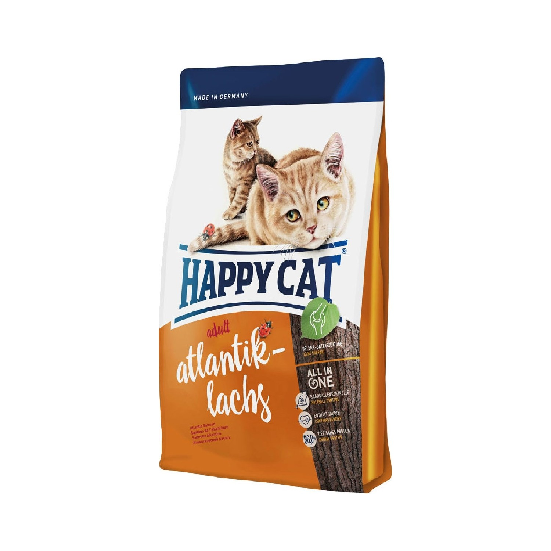 Happy Cat Atlantic Lachs Somonlu Yetişkin Kedi Maması 10 Kg