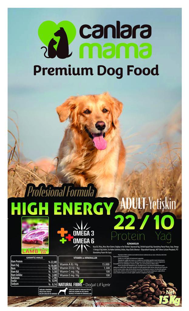 CanlaraMama Kuzulu Premium Köpek Maması 15 Kg