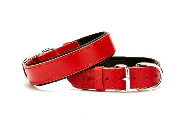 Doggie El Yapımı Köpek Boyun Tasması 1,5x25-30 Kırmızı