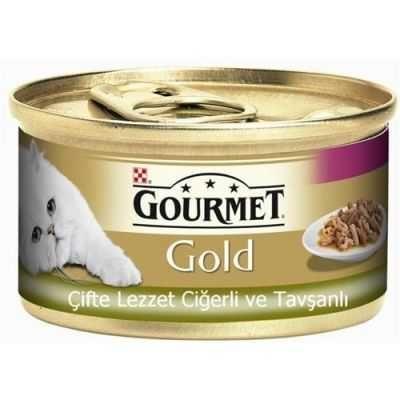 Gourmet Gold Ciğer Tavşanlı Kedi Maması 85 Gr