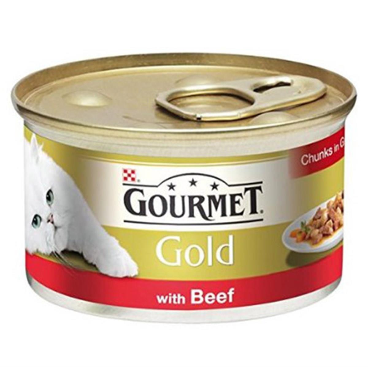 Gourmet Gold Sığır Etli Parça Etli Kedi Maması 85 Gr