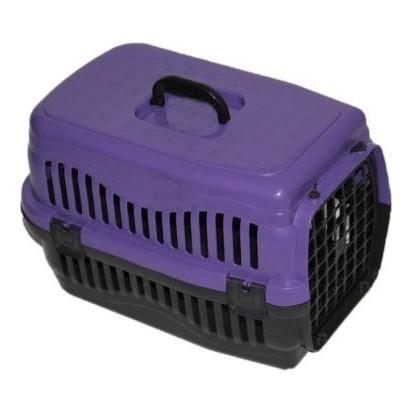 Pratik Kedi-Köpek Taşıma Kafesi 48,5x32x32 cm Mor
