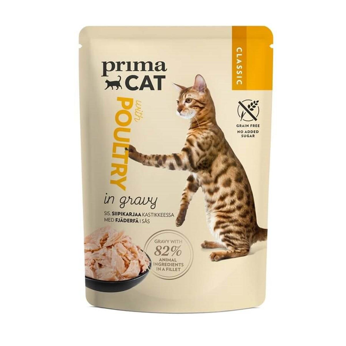 PrimaCat Tavuklu Jöleli Pouch Tahılsız Kedi Konservesi 85 Gr.