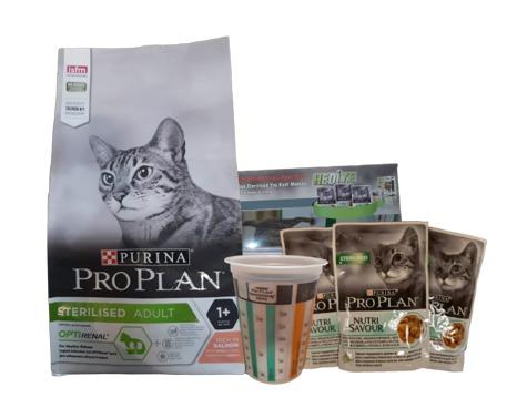 Pro Plan Somonlu Kısır Kedi Maması 1,5 Kg - Hediyeli Paket