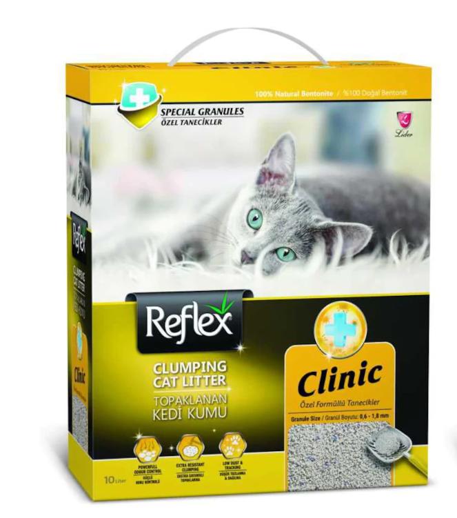 Reflex Clinic Koku Kontrolü Doğal Granüllü Kedi Kumu 10 Lt