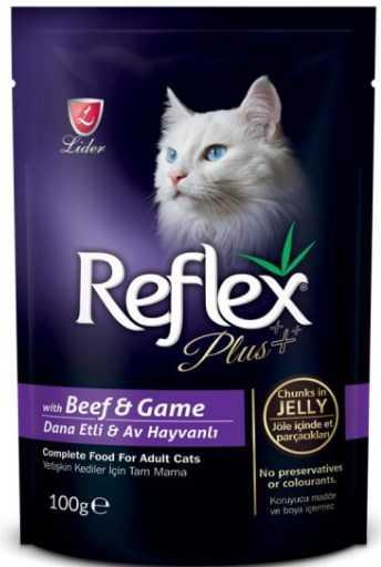 Reflex Plus Pounch Dana ve Av hayvanı Kedi Konservesi 100 Gr