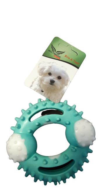 Multimagic Dental Köpek Diş Kaşıma Oyuncağı Ring Mavi 12 cm