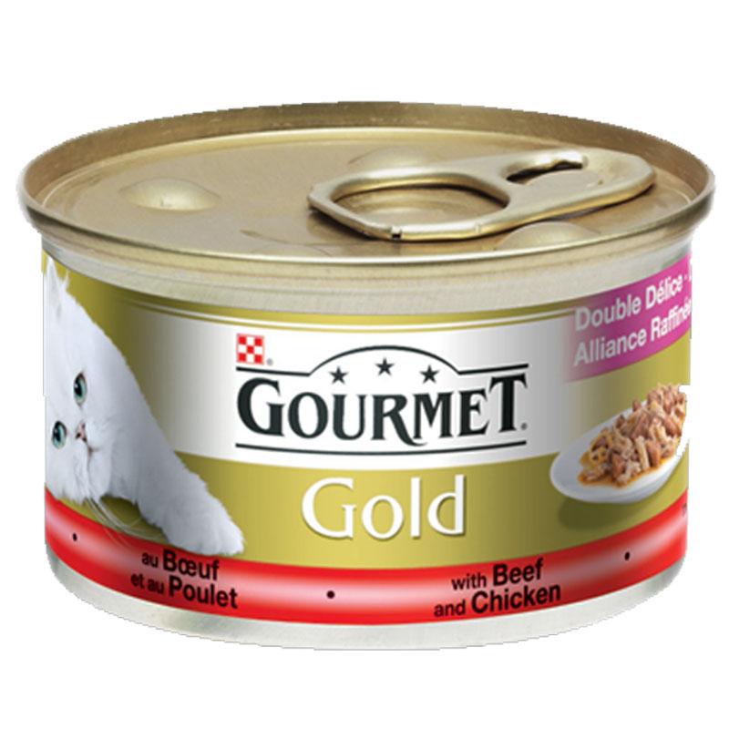 Gourmet Gold Sığır Ve Tavuk Etli Kedi Maması 85 gr