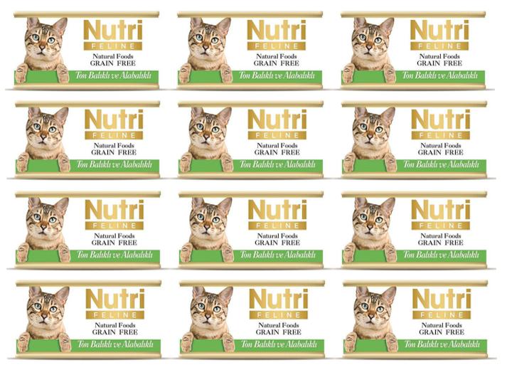 Nutri T.Balık ve Alabalık Tahılsız Kedi Kons 85 Gr x 12 Adet