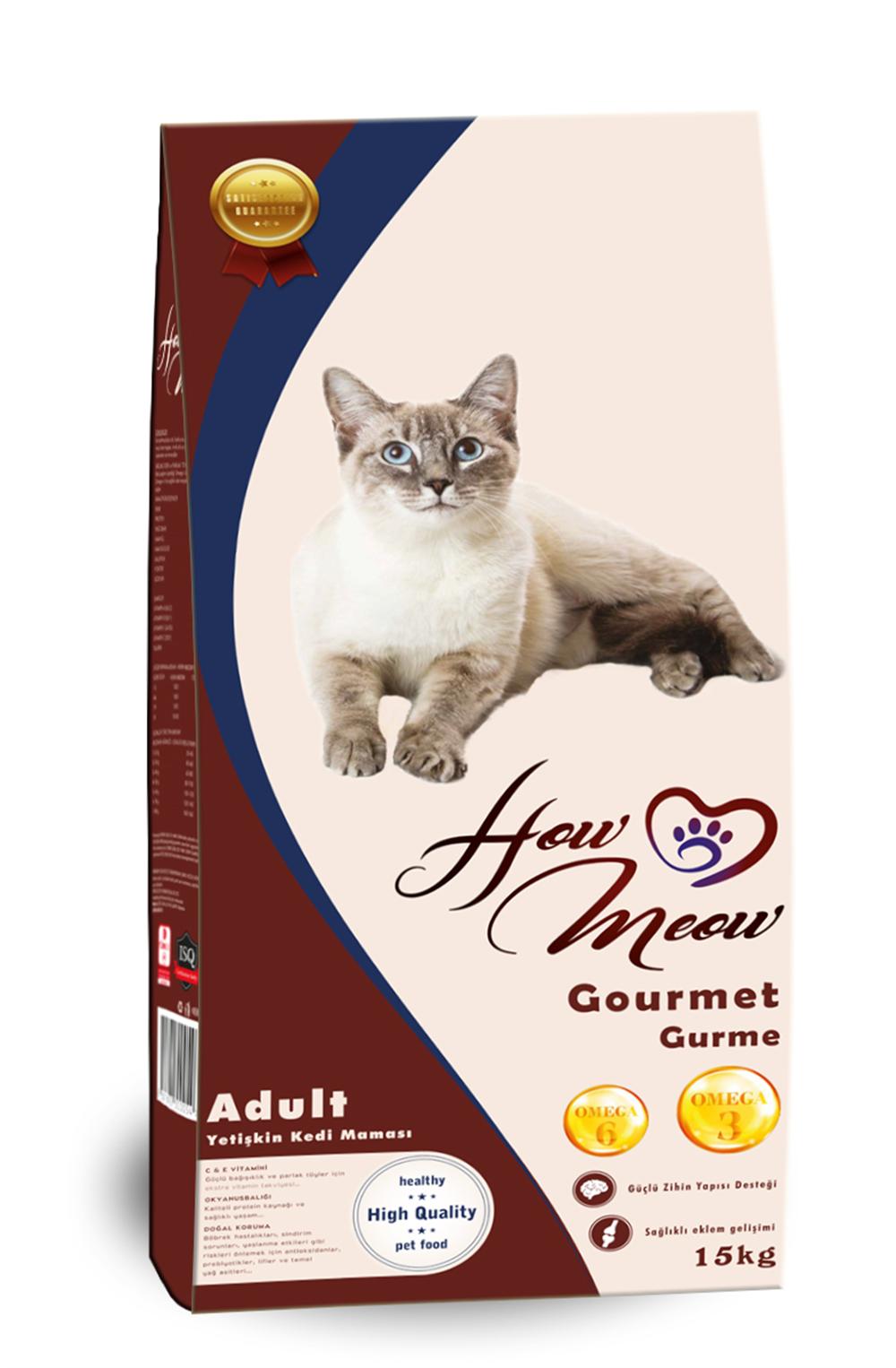 How Meow Yetişkin Kedi Maması 15 Kg Açık