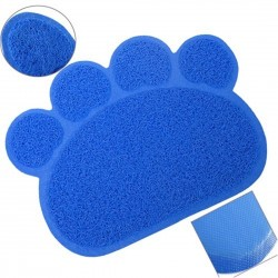 Maxi Life Kedi Tuvaleti Paspası Pati şekilli 45x60 cm Mavi