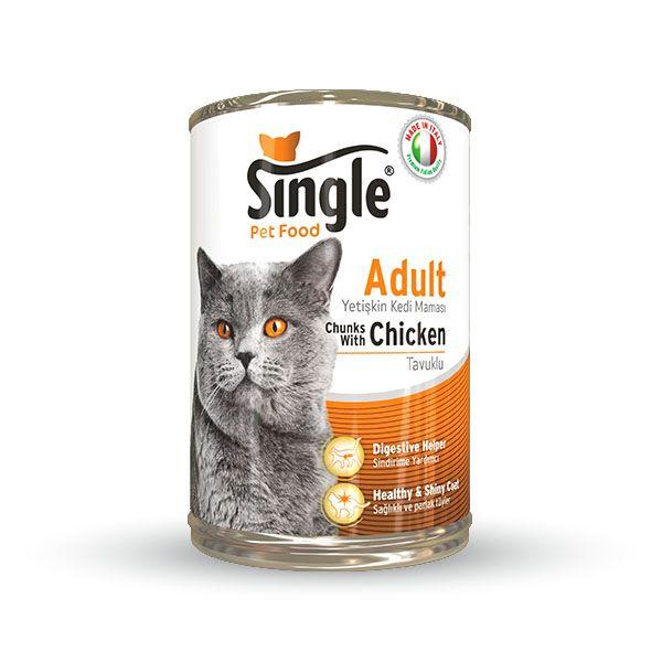 Single Tavuklu Konserve kedi maması 415gr