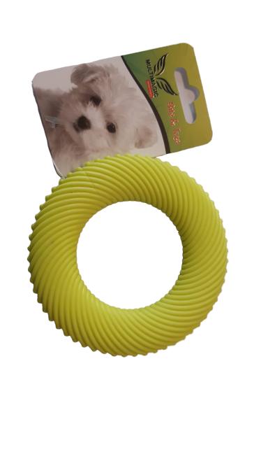 Multimagic Köpek Diş Kaşıma Oyuncağı Halka Sarı 10 cm