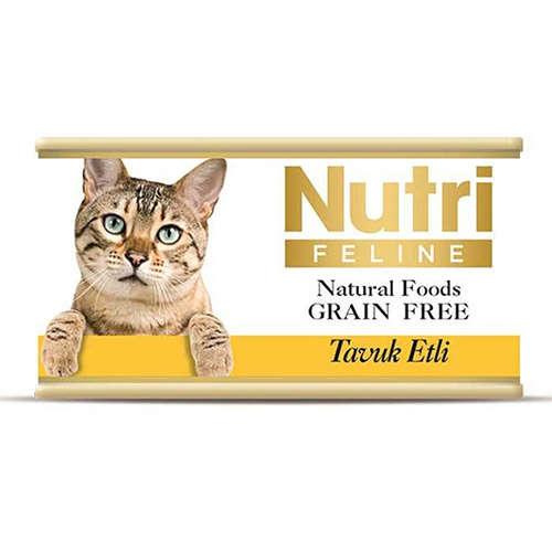 Nutri Feline Tavuk Etli Tahılsız Kedi Konservesi 85 Gr