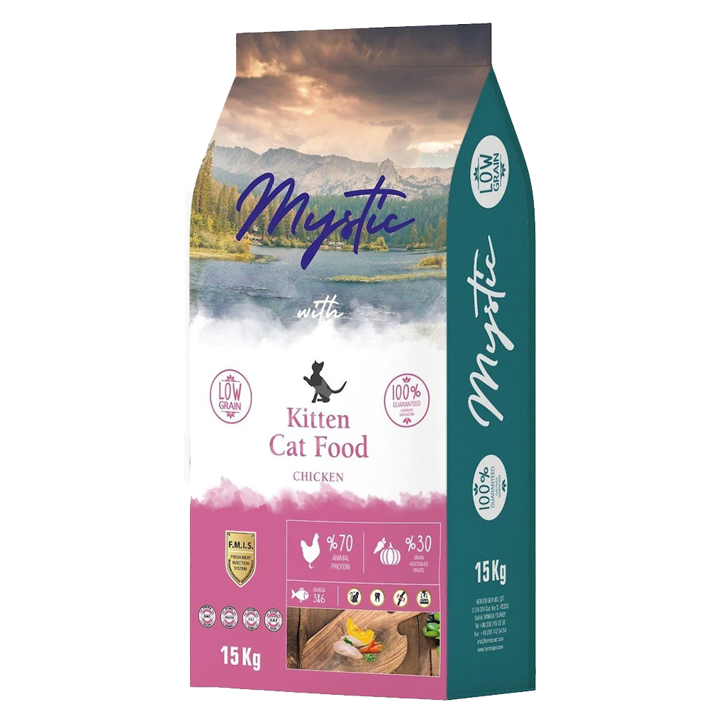 Mystic Tavuklu Yavru Kedi Maması 15 kg