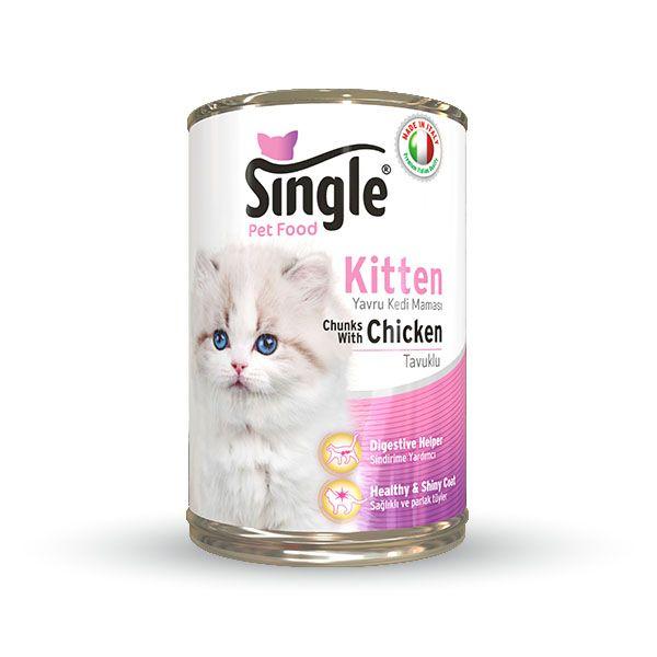 Single Kitten Yavru Kedi Konservesi 415gr