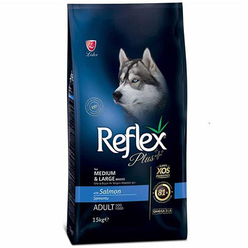 Reflex Plus Somonlu Orta/Büyük Irk Köpek Maması 15 Kg
