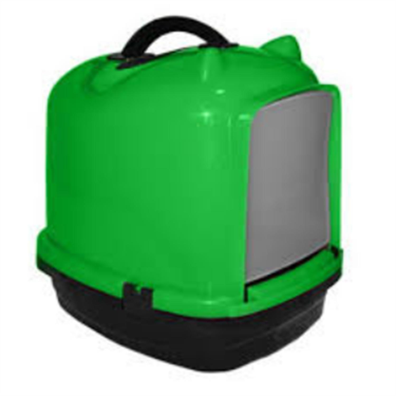 Pratik Comfort Kulaklı Kapalı Kedi Tuvalet Kabı Yeşil 49.5X40X50 cm