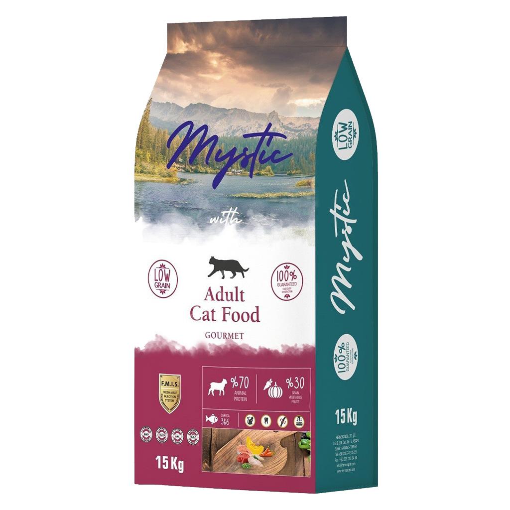 Mystic Az Tahıllı Yetişkin Kedi Maması Gurme 15 kg