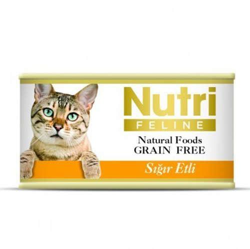 Nutri Feline Sığır Etli Tahılsız Kedi Konservesi 85 Gr