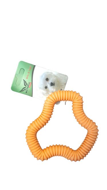 Multimagic Dental Köpek Diş Kaşıma Oyuncağı Altıgen Turuncu 12 cm