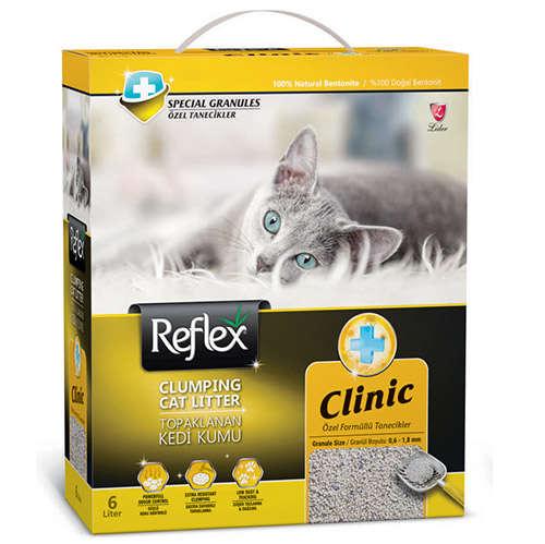 Reflex Clinic Koku Kontrolü Doğal Granüllü Kedi Kumu 6 Lt