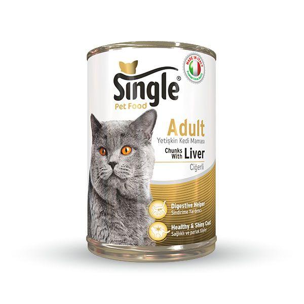 Single Cigerli konserve kedi maması 415gr
