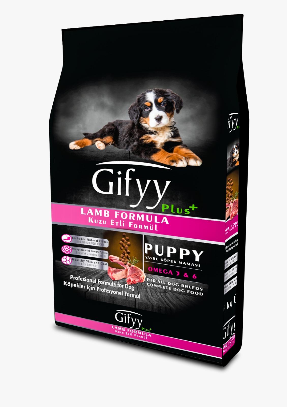 Gify Kuzu Etli Premium Yavru Köpek Maması 15Kg