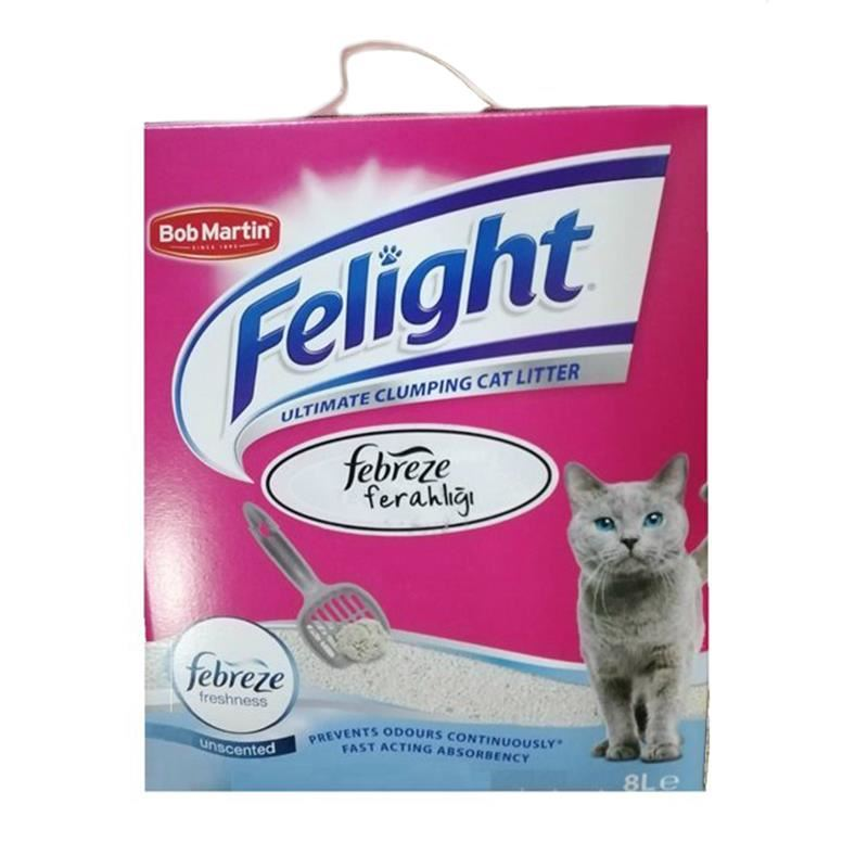 Felight Febreze Süper Premium Topaklanan Kedi Kumu 8 Lt