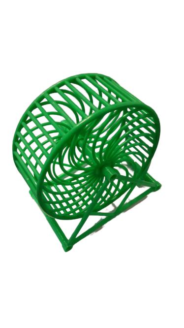 Pratik Hamster Çarkı Plastik Yeşil 11 cm