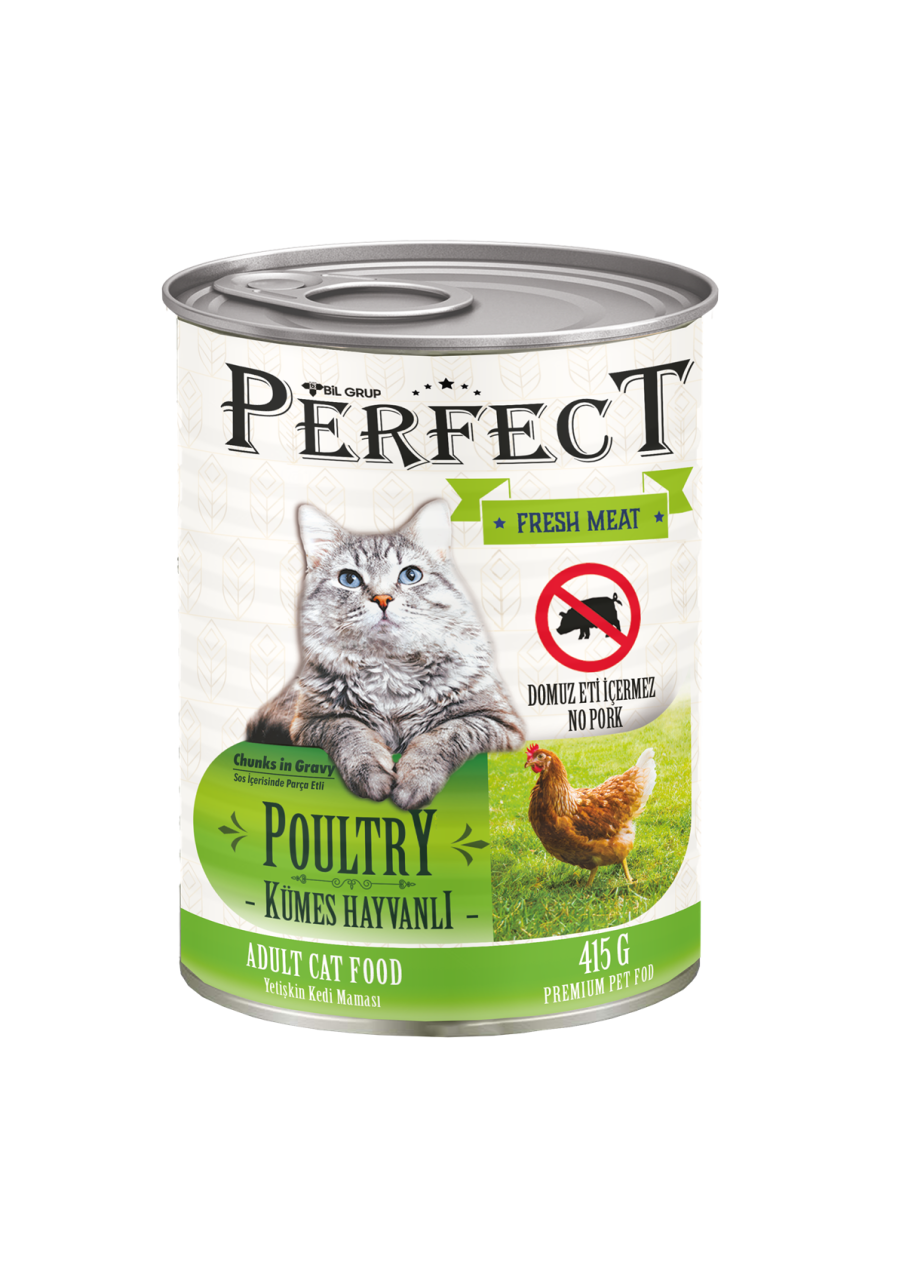 Perfect Kümes Hayvanlı Kedi Konservesi 415 Gr