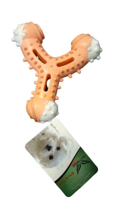 Multimagic Dental Köpek Diş Kaşıma Oyuncağı Sapan turuncu 12 cm