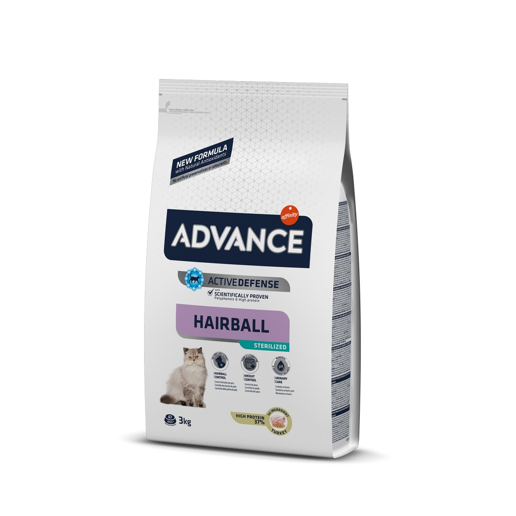 Advance Hindili Kısırlaştırılmış Hairball Kedi Maması 3 Kg