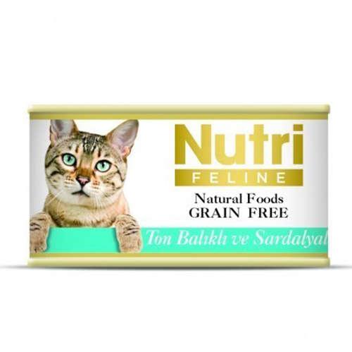 Nutri Feline Ton Balık ve Sardalya Tahılsız Kedi Kons. 85 Gr