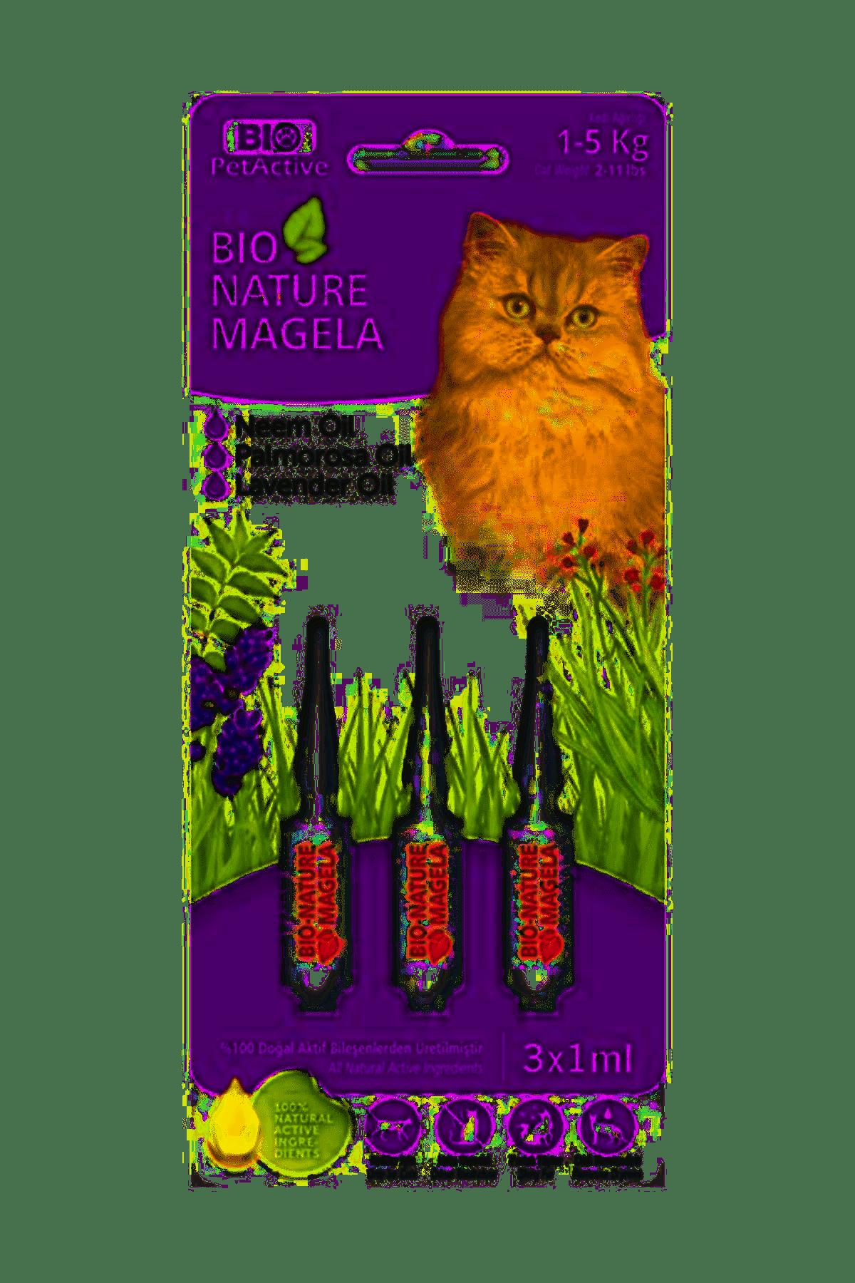 Bio Nature Magela Kedi Ense Damlası 1-5 Kg 3x1 ml