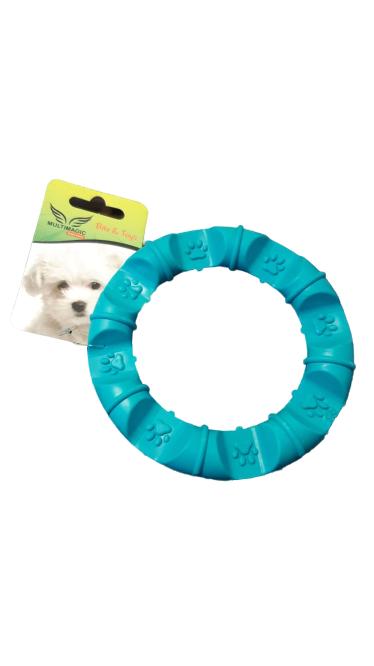 Multimagic Dental Köpek Diş Kaşıma Oyuncağı Yuvarlak Mavi 12 cm