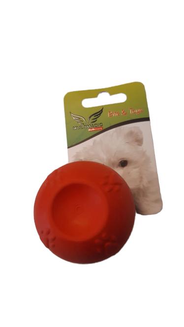 Multimagic Köpek Diş Kaşıma Oyuncağı Sert Top Kırmızı 5 cm