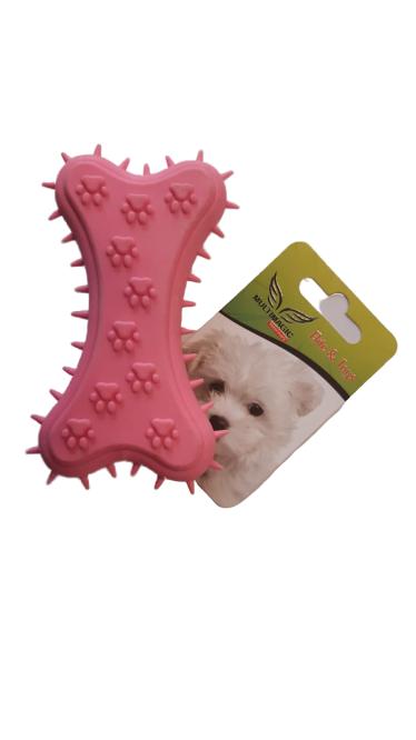 Multimagic Köpek Diş Kaşıma Oyuncağı Kemik Şekilli Pembe 11 cm