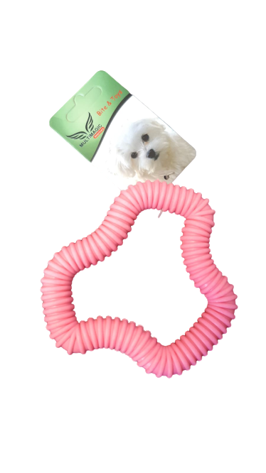 Multimagic Dental Köpek Diş Kaşıma Oyuncağı Altıgen Pembe 12 cm