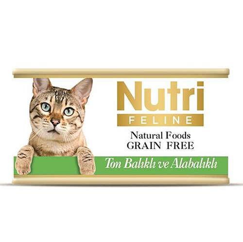 Nutri Feline Ton Balık ve Alabalık Tahılsız Kedi Kons 85 Gr