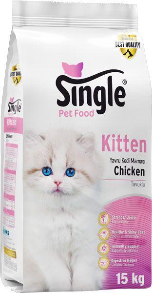 Single Kitten Yavru Kedi Maması 15kg