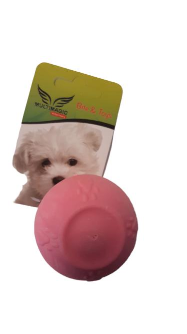 Multimagic Köpek Diş Kaşıma Oyuncağı Sert Top Pembe 5 cm