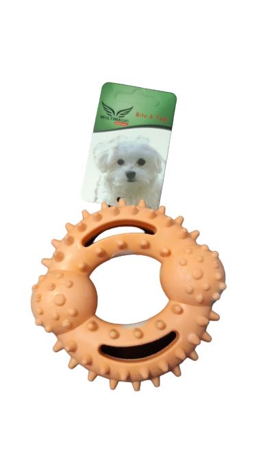 Multimagic Dental Köpek Diş Kaşıma Oyuncağı Ring Pembe 12 cm