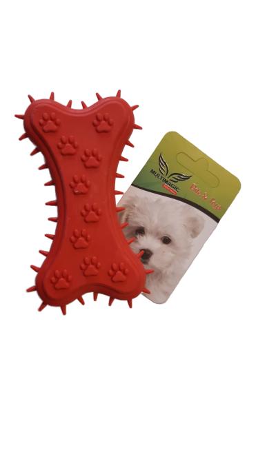 Multimagic Köpek Diş Kaşıma Oyuncağı Kemik Şekilli Kırmızı 11 cm