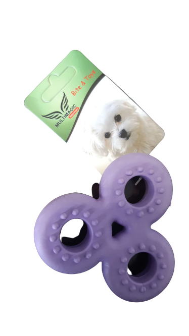 Multimagic Dental Köpek Diş Kaşıma Oyuncağı Stres Çarkı Mor 9 cm