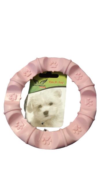 Multimagic Dental Köpek Diş Kaşıma Oyuncağı Yuvarlak Pembe 12 cm